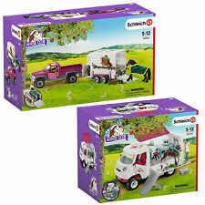 Schleich Horse Club Combo Pack inc 42346 Pick-Up Truck & 42370 Mobile Horse Vet