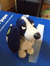 NWT Applause HUSH PUPPIES Basset Navy Blue Special Edition Bean Bag Plush Dog