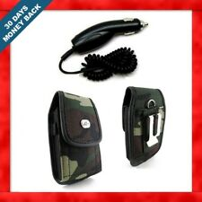 CAR CHARGER+CAMOUFLAGE HOLSTER SIDE COVER CASE POUCH FOR TracFone LG 235C 235-C