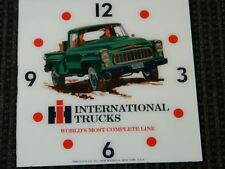 "*NEW* 15"" SQUARE INTERNATIONAL HARVESTER IH TRUCK GLASS FACE PAM CLOCK"