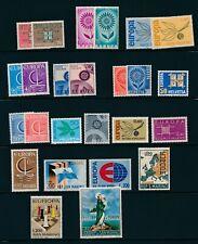 Europa Sets (1963-7) San Marino, Finland, Fr Andorra, Italy, Switzerland; Mint