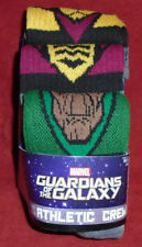 """NEW MENS """"GUARDIANS OF THE GALAXY 3 PAIR ATHLETIC CREW SOCKS"""" Sock Size 10-13"""