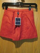 Oscar de la Renta Red Pocket Girl's Skirt 8Y