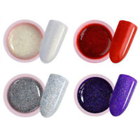 4Pcs 5ml Nail Art Soak Off UV Gel Polish Holographic Glitter LED Color UR SUGAR