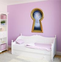Narnia Lamp Post 3D Keyhole Removable Wall Decal Mural for Childrens Room Decor