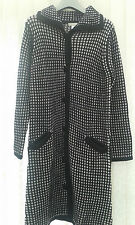 New Daxon Long Black and White Knitted Jacket ~ size 10/12