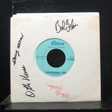 "The Rivieras - California Sun / H B Goose Step 7"" VG+ R-1401 Vinyl 45 Signed"