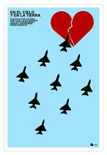 """Cuban movie Poster 4""""IN THE SKY and Land""""Polish film.El cielo y la tierra.Art"""
