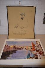 Rare VTG Set Winston Churchill Hallmark Portfolio Prints Complete Set of 9