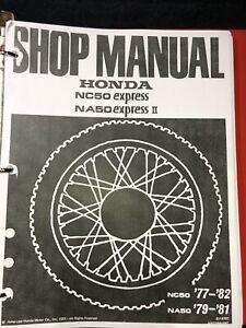 OEM Honda 1977 1978 1979 1980 1981 1982 NC50 NA50 Express Service Shop Manual