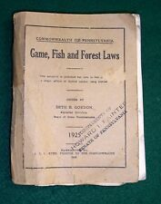 Book- Pennsylvania Game Fish and Forest laws 1925