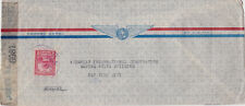 EEUU De Venezuela WWII 1945 Passed by Censor Postal Cover to USA