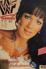 WWF WWE Magazin 8/00 8/2000 deutsche Ausgabe Chyna + Kurt Angle Riesenposter