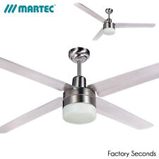 "Martec Trisera 52"" 1300mm 3 or 4 blade Ceiling Fan With Light"