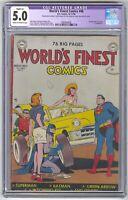 World's Finest Comics #48 CGC 5.0 VINTAGE DC Comic Batman Robin Superman 15c