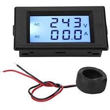 Dual Display Voltmeter Ammeter Voltage Current Meter D69 2042 Ac80 300v 0 50a