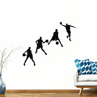 Basketball Pattern Wall Stickers Removable Art Decal for Living Room Bedroom