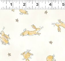 GUESS HOW MUCH I LOVE YOU CREAM RABBIT TOSS FABRIC