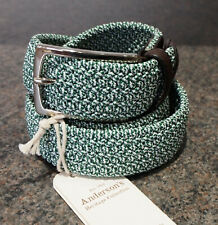 Anderson's Woven Textile Belt Size 105 38 / 40 Waist Made In Italy Andersons