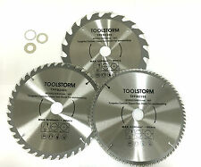 3PC CIRCULAR SAW BLADES 235MM  20T,40T,80T ARBOR 30MM-BUSH25.4/16/10TCT MITRESAW