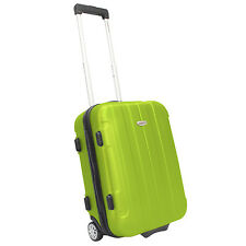"""Traveler's Choice Rome 20"""" Green Carry-on Lightweight Rolling Suitcase Luggage"""
