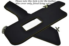 YELLOW STITCH FITS BMW 3 SERIES E30 84-92 2X SUN VISORS LEATHER COVERS ONLY