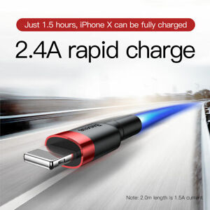 Baseus iPhone Charging Cable Charger Heavy Duty Cord iPhone 12 11 XS MAX XR 8