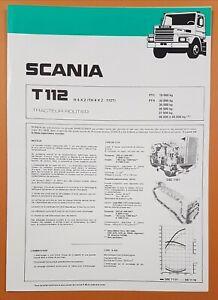 Catalogue / Brochure / Fiche technique  SCANIA T 112  T 4x2