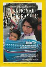 NATIONAL GEOGRAPHIC MAGAZINE AUGUST 1984 - Rockies - Mexico City - Japan Alps