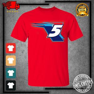 Men's #5 Kyle Larson Team Collection Valvoline Graphic Red T-Shirt