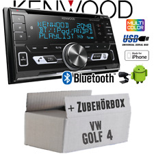 Kenwood Radio für VW Golf 4 IV Bluetooth USB Apple Android Autoradio Einbauset