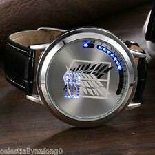 Anime Attack On Titan Cosplay Touch Screen LED Glass Watches Bracelet Wristwatch