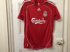 """Red Adidas Liverpool Home football shirt 2006 - 2008 Small Mens approx 40"""" chest"""