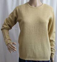 Women's Worthington Gold Sparkle Long Sleeve Crew Neck Sweater - Size Small