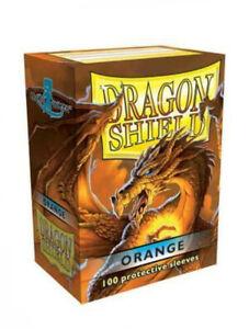 Dragon Shield Classic Orange 100 Standard Size (63 mm x 88 mm) Card Sleeves