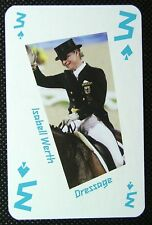 1 x playing card London 2012 Olympic Legends Isabell Werth Dressage 3 Spades