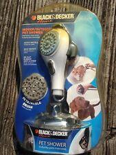 """""""Black and Decker"""" Indoor/Outdoor Pet Shower Detachable Brush, Quick Install NEW"""