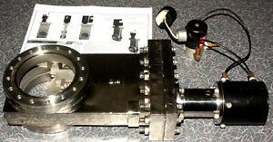 "Huntington GVAP-400C 4"" Vacuum Gate Valve + Pneumatic Solenoid 6"" CF Working"