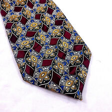 "City One Men's Necktie 58.5"" x 3.5"" Classic Red Green Blue Yellow Novelty"
