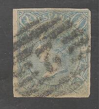 Spain #68 FVF USED - 1865 4c Blue Isabella II - SCV Estimated $2,650.00