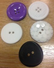 Large buttons 30mm unusual designs 4 per pack 3D multi texture coat bag fastener