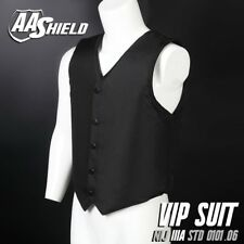 AA Shield VIP Suit Concealable Ballistic Body Armor Vest Lvl IIIA 3A M Black