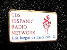BARCELONA '92 Summer Olympic Games CBS HISPANIC RADIO NETWORK Media staff pin