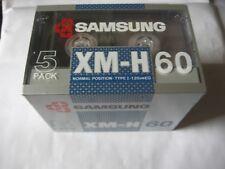 PACK DE 5 K 7 AUDIO (TAPE) XM-H 60TYPE 1 IEC I 120us EQ  (MADE IN KOREA) SAMSUNG
