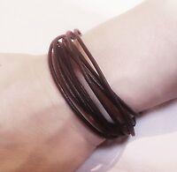 2.5mm leather Adjustable bracelet surf surfer wrist band anklet cuff wrist cuff