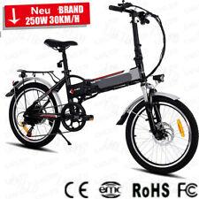 Folding Electric Mountain Bike Bicycle EBike w/ 250W Motor & Shimano 20 Zoll DHL
