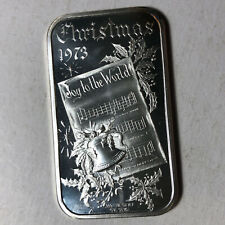 Gifts in Stocking Art Bar by Madison Mint 1 Troy oz 999 Fine Silver Christmas