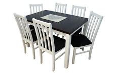 Essgruppe Esstisch Esstischgruppe mit 6 Stühlen Farbauswahl