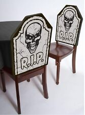 Tomb Stone Chair Cover Halloween RIP Chairs Covers Graveyard Haunted House Seat