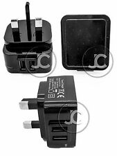 UNIVERSAL DUAL USB 2.1A UK 3 PIN MAINS CHARGER PLUG FOR IPHONE 5 6 IPAD 3 4 5